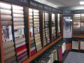 Lifestyle carpet stands in Norwich showroom